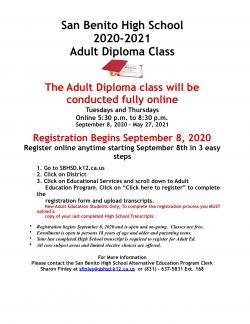 Adult Ed Registration Flyer